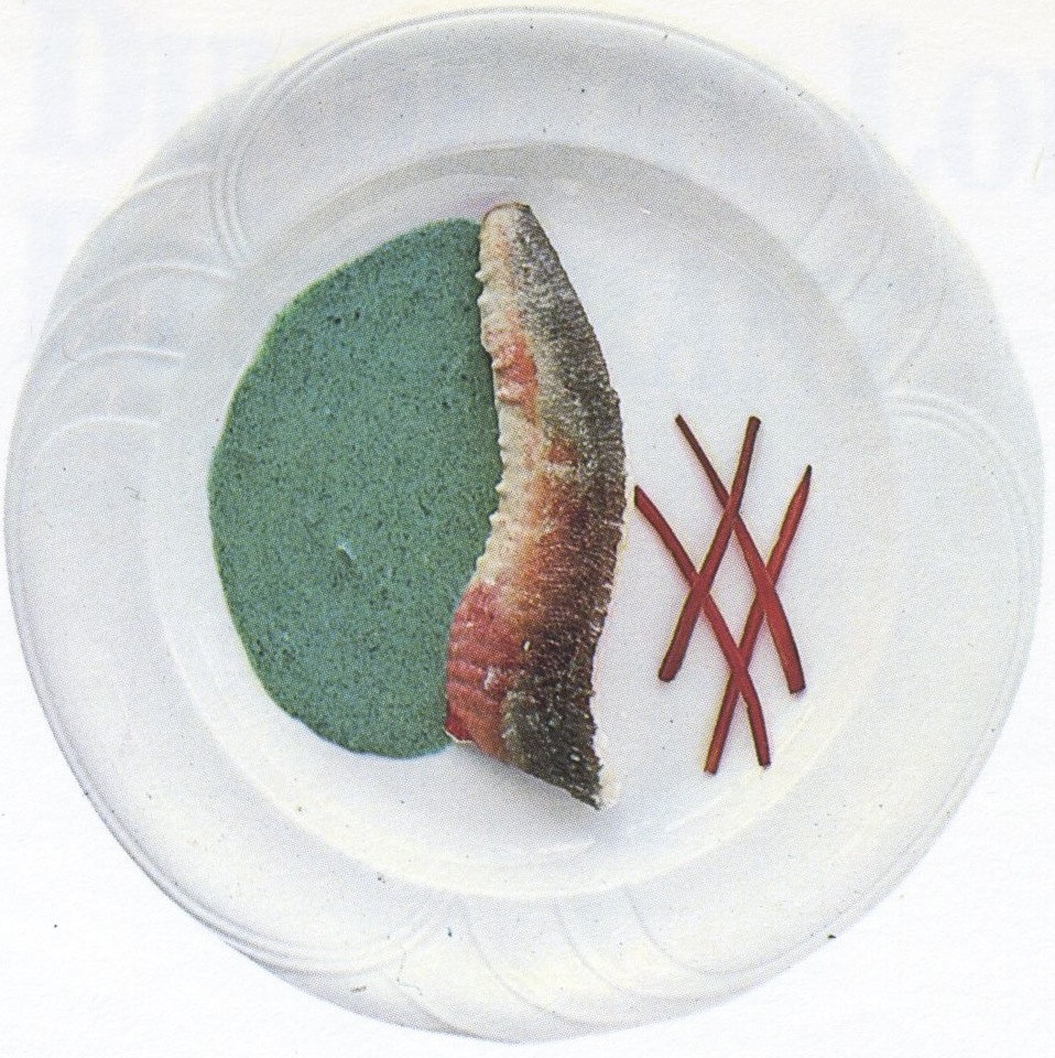 Fillet of gurnard with nettle sauce